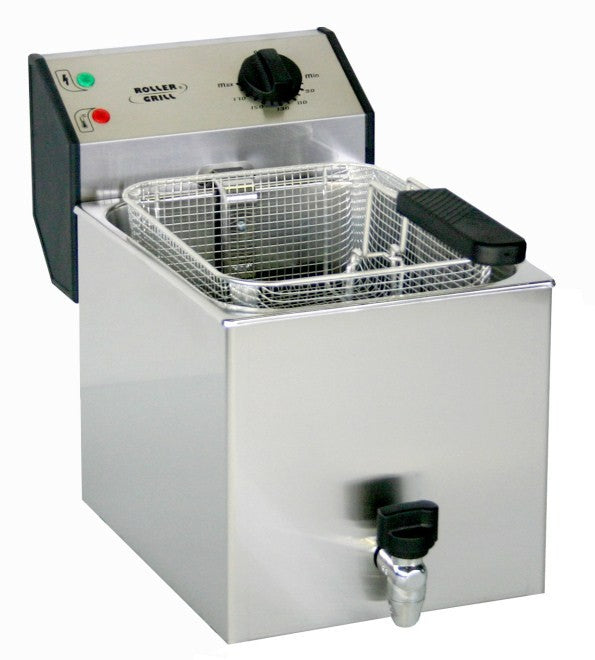 Roller Grill FD80R 8L Electric Single Pan Fryer 265W x 480D x 350H (mm) 3kW,Fryers - Electric,Roller Grill