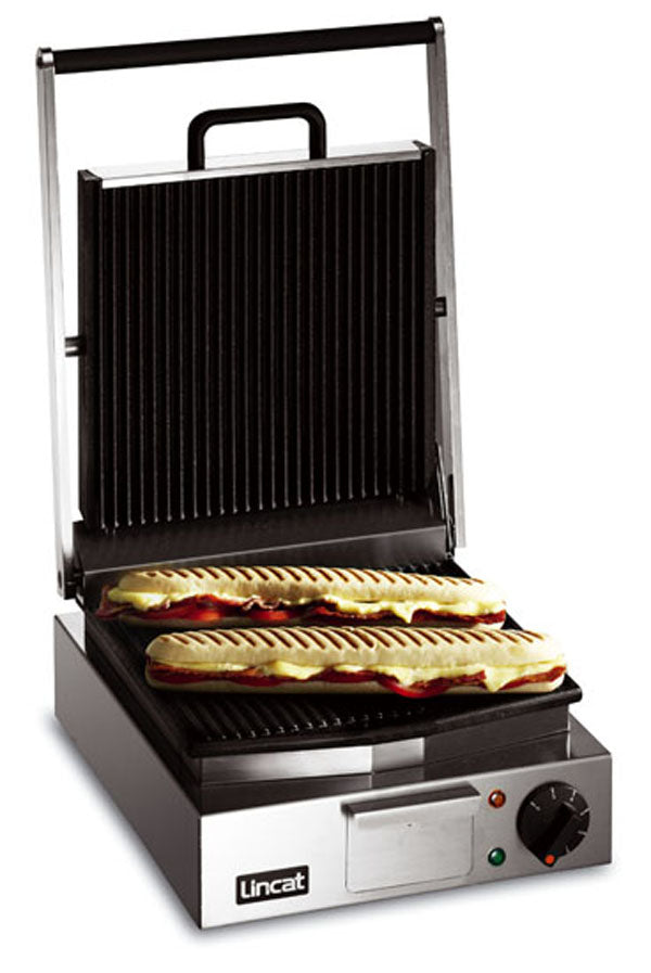 Lincat LPG Electric Panini Grill Single - ribbed top and bottom,Pannini Grills,Lincat
