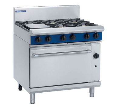 Blue Seal Evolution Series G506D - 900mm Gas Range Static Oven,Oven Ranges,Blue Seal