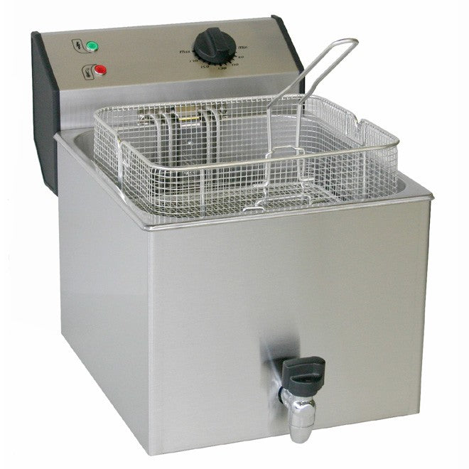 Roller Grill FD120R Electric Single Pan Fryer 350W x 480D x 370H (mm) 6.4kW,Fryers - Electric,Roller Grill