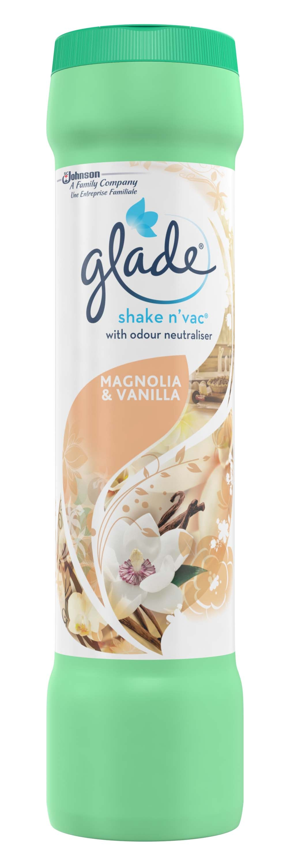 Glade - Shake and Vac Vanilla & Magnolia 500g,Floor Cleaner,Glade