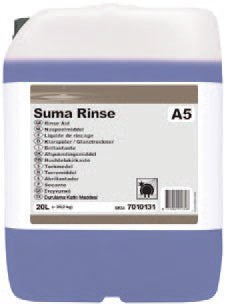 Diversey - Suma Rinse A5  Rinse Aid - 20 Litre,Dishwasher Rinse Aid,Diversey