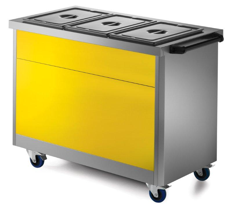 Lincat P64YELLOW Yellow Front Fascia for 670 Series 4GN models,Hot Cupboard Accessories,Lincat
