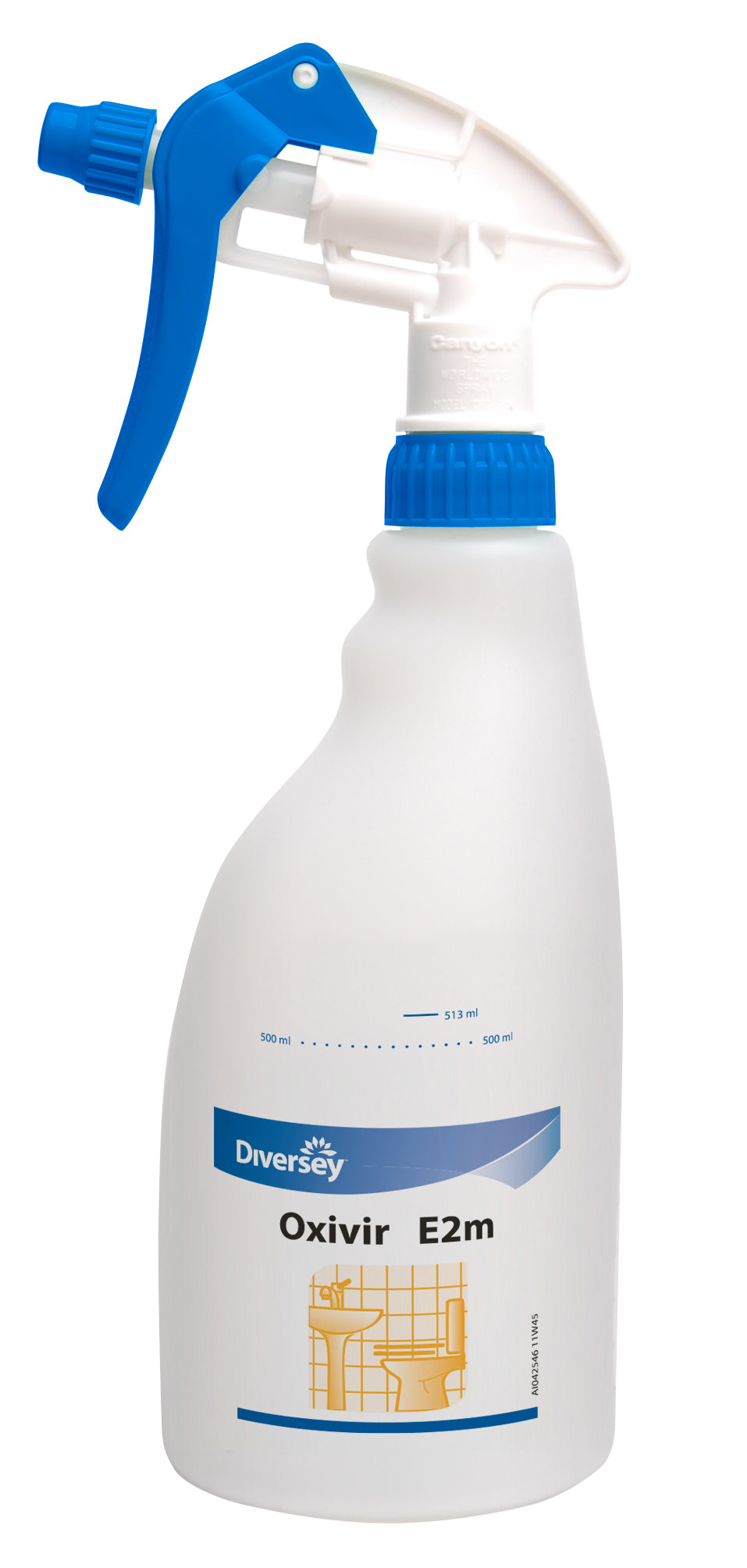 Diversey SmartDose - Empty Spray Bottle 750ml Oxivir Plus - (Case of 5),Empty Chemical Bottle,Diversey