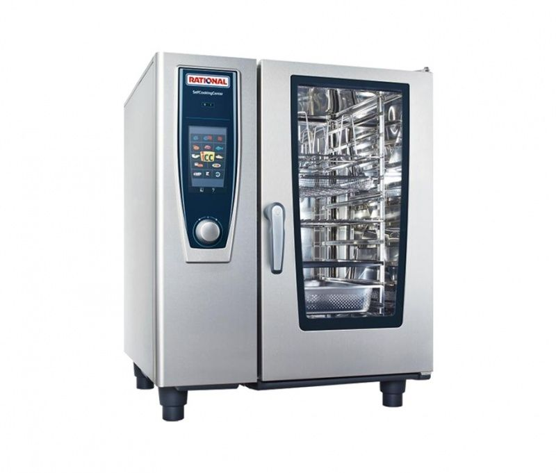 Rational 10 Grid Self Cooking Center 1/1GN Natural Gas Combination Oven,Self Cooking Center,Rational