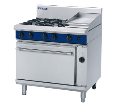 Blue Seal Evolution Series GE56C - 900mm Gas Range/Griddle Electric Convection Oven,Oven Ranges,Blue Seal