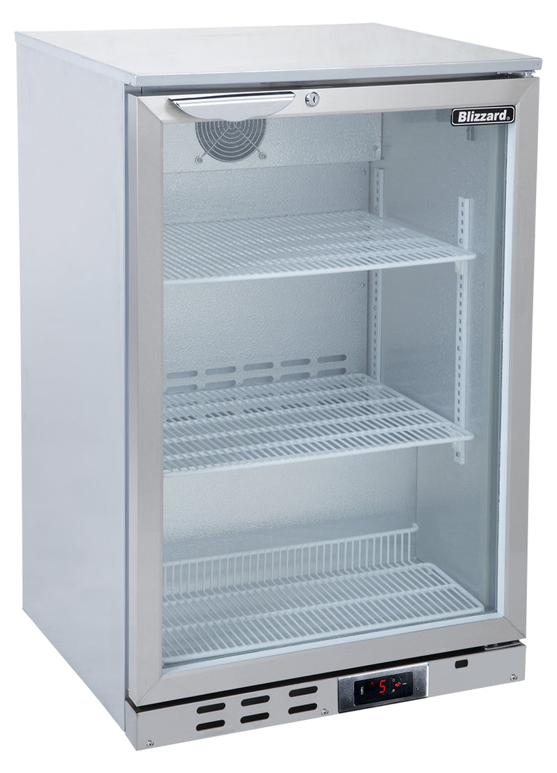 Blizzard Bar Bottle Cooler One Door - Stainless Steel,Bar Bottle Cooler,Blizzard