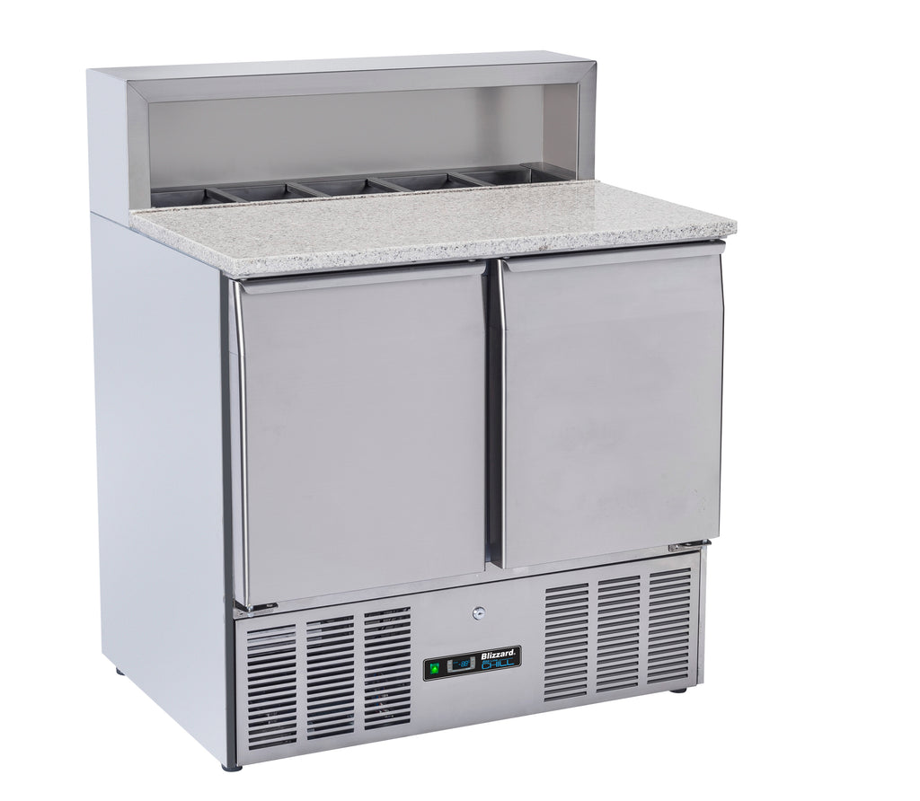Blizzard Pizza Prep Refrigerated Counter -  240 Litre,Pizza Prep Counter,Blizzard