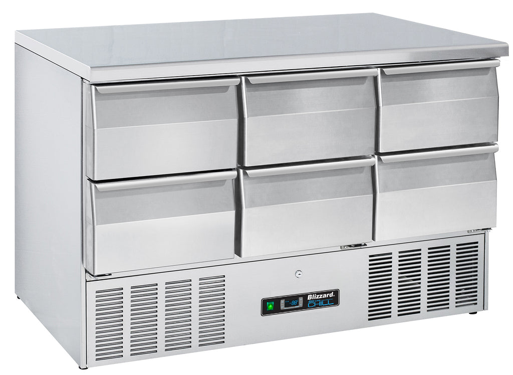 Blizzard Compact Gastronorm Refrigerated Counter With Draws - 342 Litre,Counter Refrigeration With Draws,Blizzard