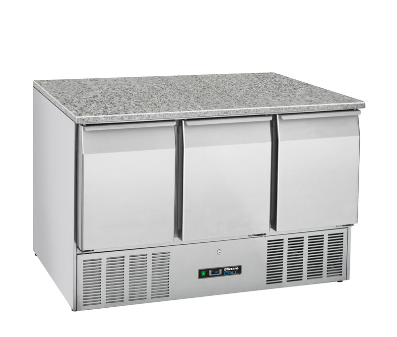 Blizzard Gastronorm Counters with Granite Worktop - 330 Litre,Counter Refrigerated,Blizzard