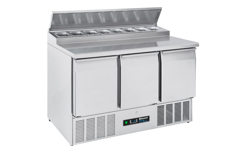 Blizzard Gastronorm Refrigerated Counter - 376 Litre,Saladette Counter,Blizzard