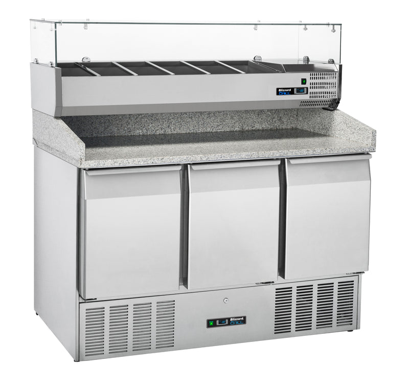 Blizzard Gastronorm Pizza Prep Refrigerated Counter -  330 Litre,Pizza Prep Counter,Blizzard
