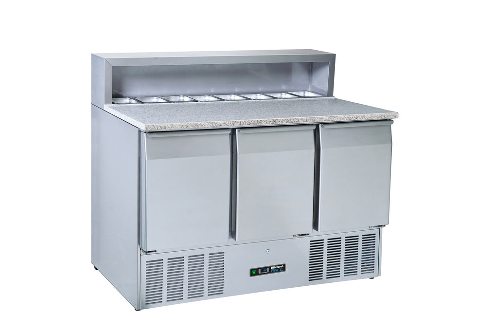 Blizzard Pizza Prep Refrigerated Counter -  402 Litre,Pizza Prep Counter,Blizzard