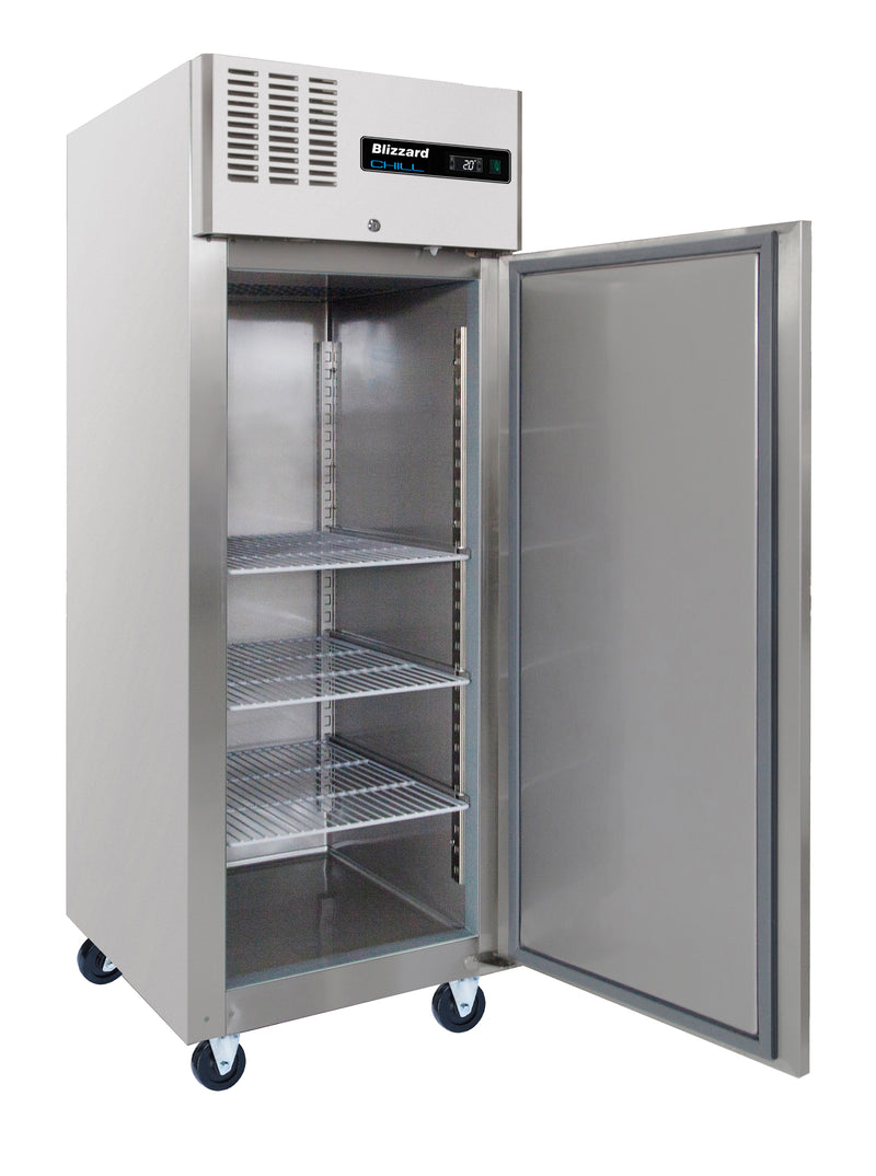 Blizzard Ventilated Gastronorm Refrigerator - 550 Litre Stainless Steel,Solid Door Refrigerator,Blizzard