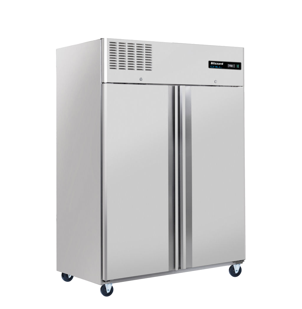 Blizzard Ventilated Gastronorm Double Door Refrigerator - 1200 Litre Stainless Steel,Solid Double Door Refrigerator,Blizzard