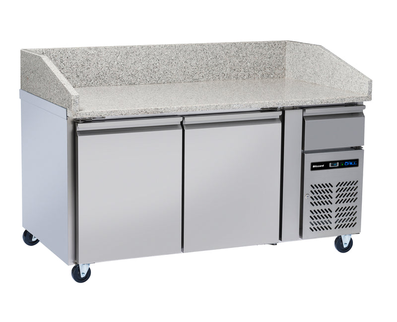 Blizzard Refrigerated Pizza Prep Counters, White Granite Top - 428 Litre,Pizza Prep Counter,Blizzard