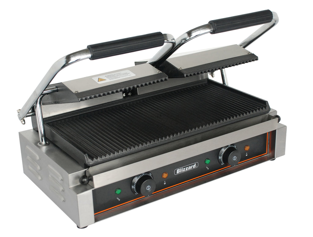 Blizzard  - Double Contact Grill, Top Ribbed, Bottom Ribbed,Contact Grill,Blizzard