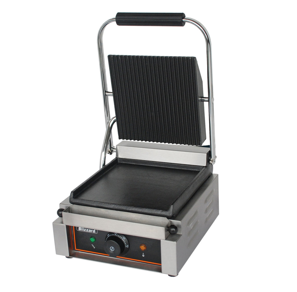 Blizzard - Single Contact Grill, Top Ribbed, Bottom Smooth,Contact Grill,Blizzard