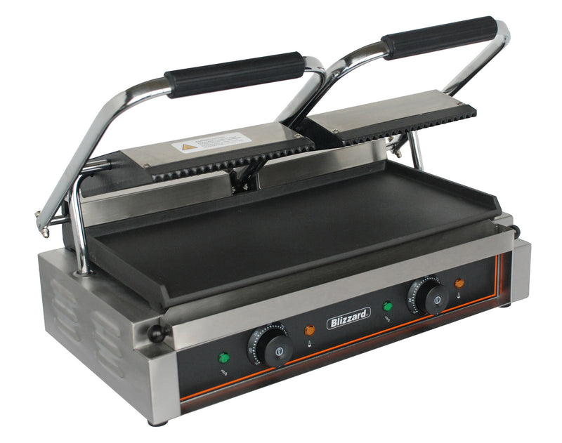 Blizzard - Double Contact Grill, Top Ribbed, Bottom Smooth,Contact Grill,Blizzard