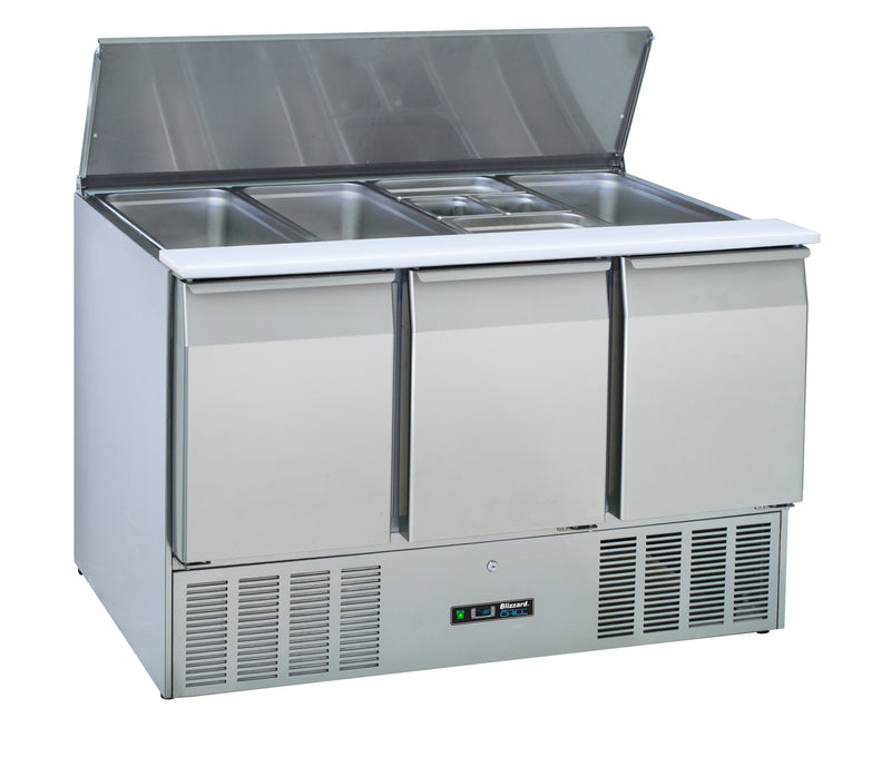Blizzard Gastronorm Saladette Refrigerated Counter - 350 Litre,Saladette Counter,Blizzard