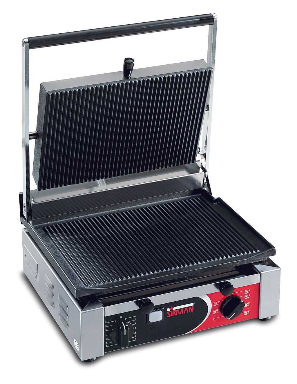 Sirman - Large Single Cort Contact Grill - Ribbed,Contact Grill,Sirman