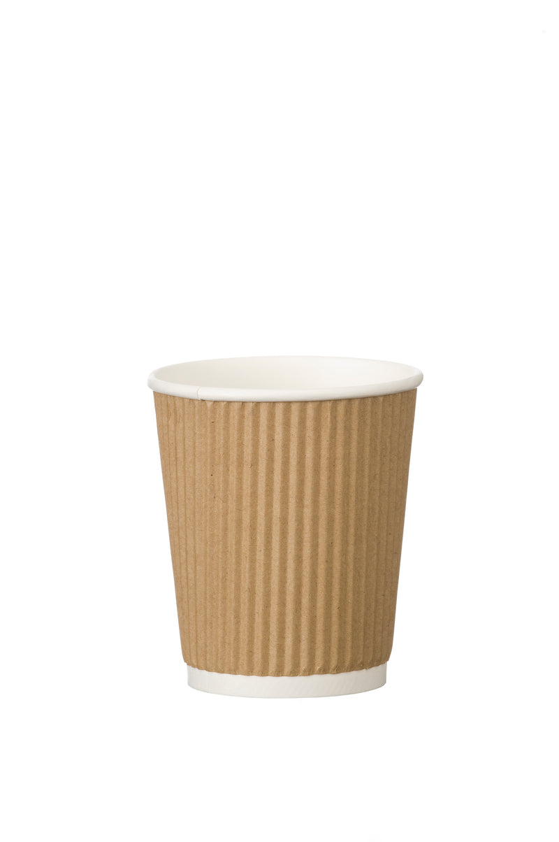 Triple Wall Ribbed Kraft Hot Cups,Disposable Cup,BusyCHEF