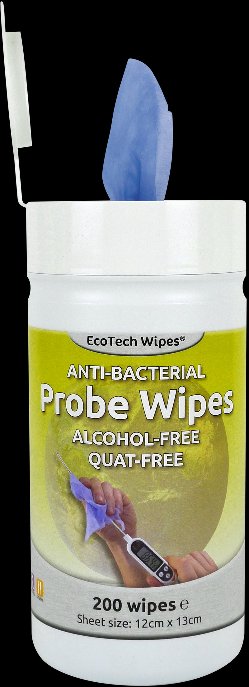 Food Probe Wipes 12x13cm (Case of 200)