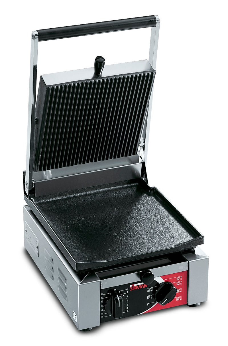 Sirman - Single Elio Contact Grill - Ribbed/ Flat,Contact Grill,Sirman