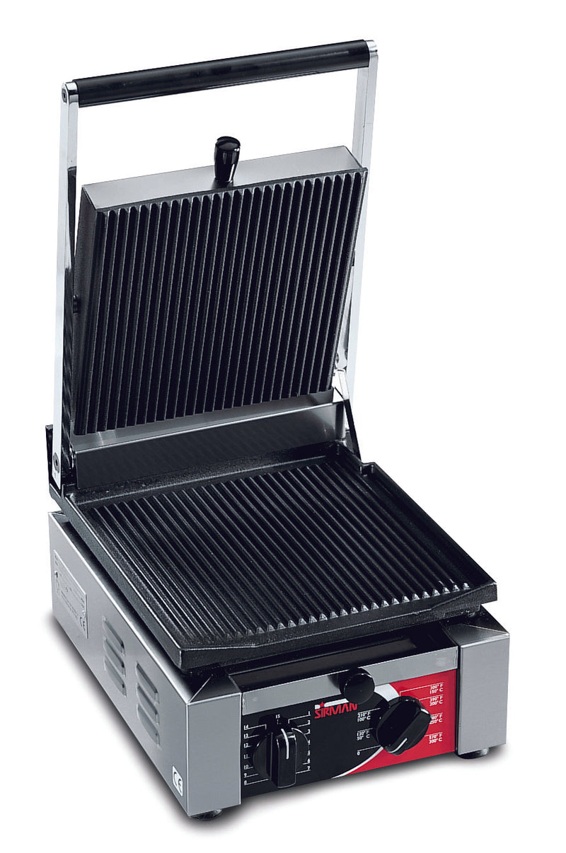 Sirman - Single Elio Contact Grill - Ribbed,Contact Grill,Sirman