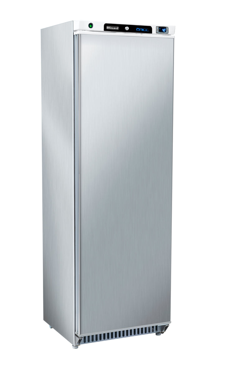 Blizzard Upright Refrigerator - 380 Litre Stainless Steel,Solid Door Refrigerator,Blizzard