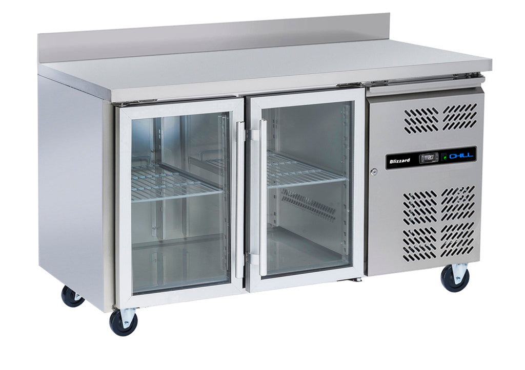 Blizzard Glass Door Gastronorm Refrigerated Counter - 313 Litre,Counter Refrigeration,Blizzard