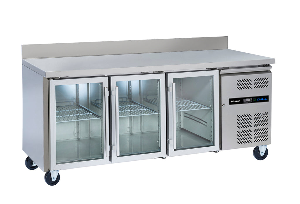 Blizzard Glass Door Gastronorm Refrigerated Counter - 465 Litre,Counter Refrigeration,Blizzard