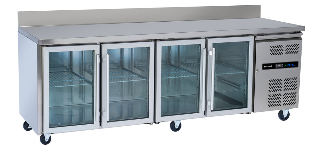 Blizzard Glass Door Gastronorm RefrigeratedCounter - 616 Litre,Counter Refrigeration,Blizzard