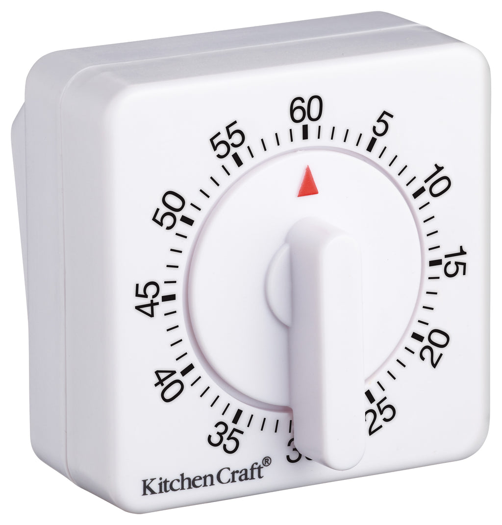 Kitchencraft Deluxe Half Round Wind-Up 60 Minute Timer,Timer,Kitchencraft