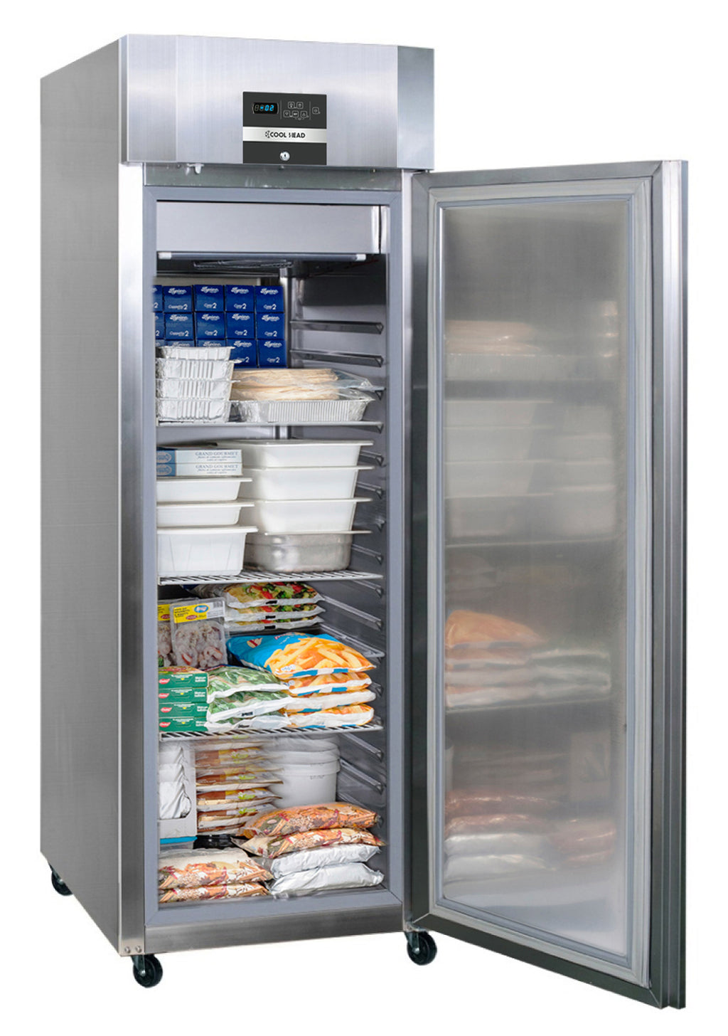Blizzard Premium Ventilated Hydrocarbon Freezer  - 700 Litre Stainless Steel,Solid Door Freezer,Blizzard
