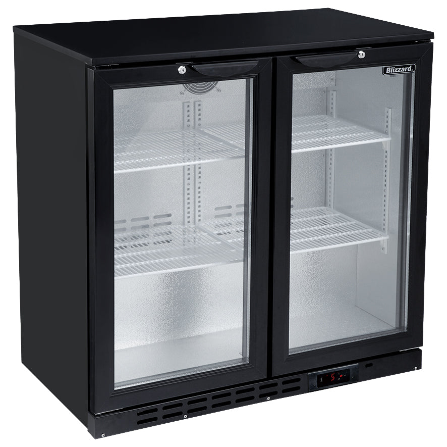 Blizzard Low Height Bar Bottle Cooler Two Door,Bar Bottle Cooler,Blizzard