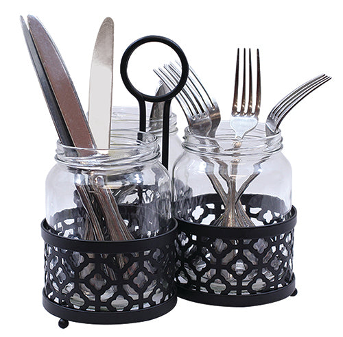 Tablecraft Farmhouse Collection Cutlery Holder Set,Cutlery Storage,Tablecraft