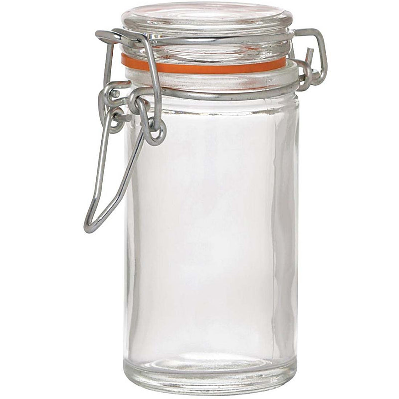 Metropolitan - Mini Terrine Jar 1.75oz,Glass Clip Jar,Metropolitan Glassware