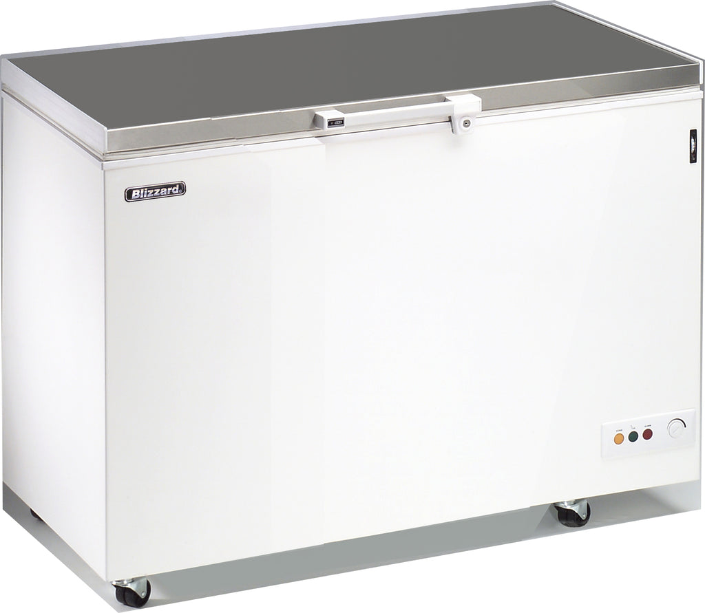 Blizzard Stainless Steel Lid Chest Freezer - 401 Litre,Chest Freezer,Blizzard