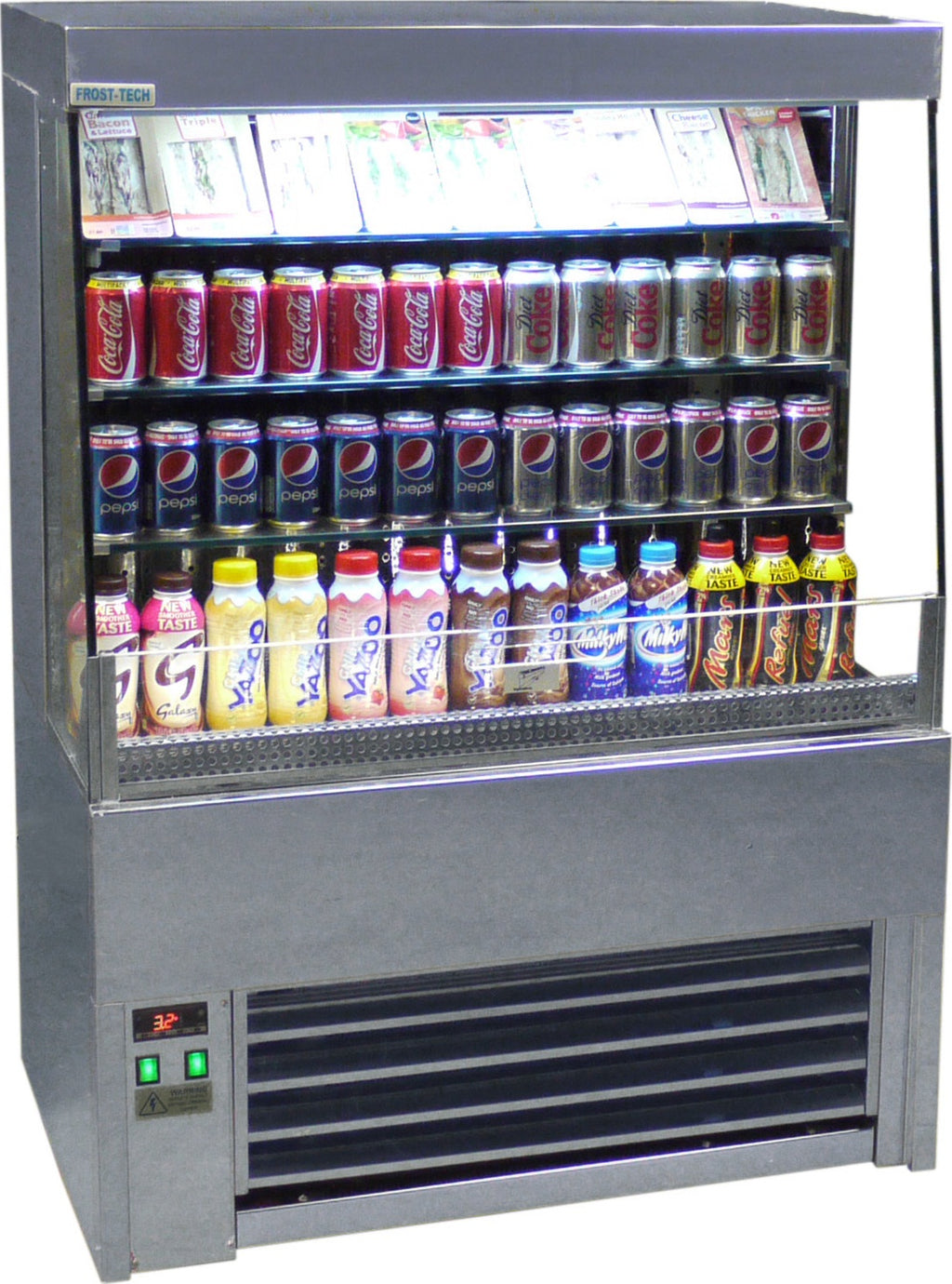Frost-Tech Low Height Tiered Refrigerated Multideck - 600mm,Multideck,Frost Tech