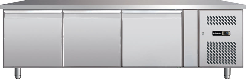 Blizzard Low Hight Snack Refrigerated Counter - 255 Litre,Counter Refrigeration,Blizzard