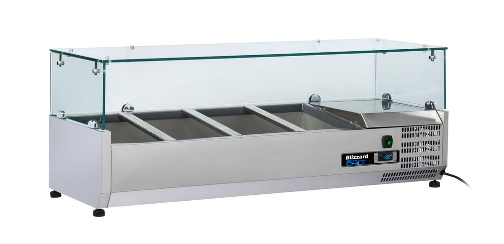 Blizzard Preparation Unit With Glass Display - 1200mm,Tabletop Salad Preparation,Blizzard