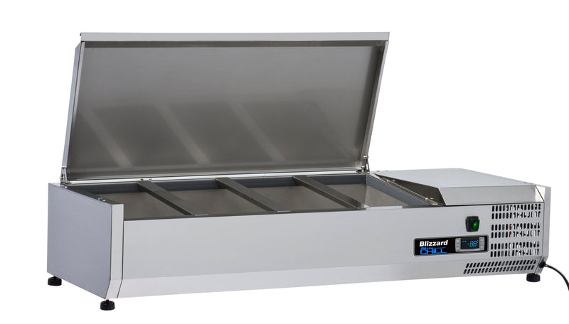 Blizzard Preparation Unit With Lid - 1200mm,Tabletop Salad Preparation,Blizzard