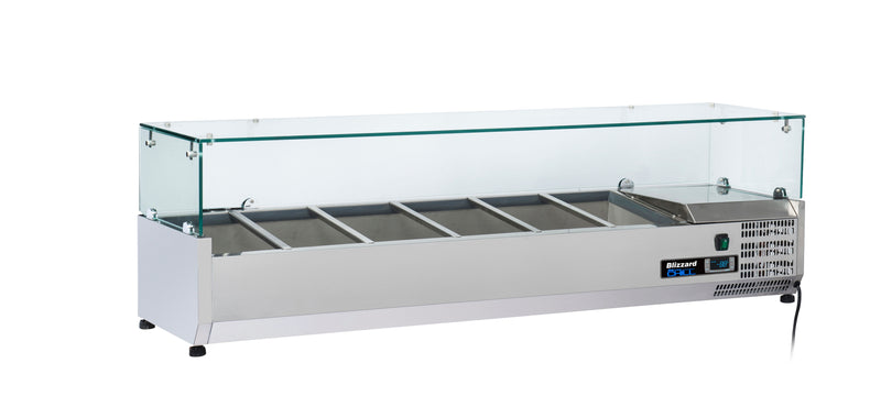 Blizzard Preparation Unit With Glass Display - 1500mm,Tabletop Salad Preparation,Blizzard