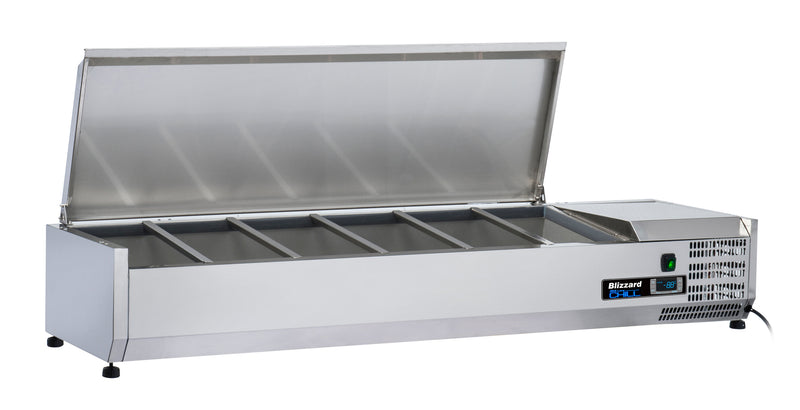 Blizzard Preparation Unit With Lid - 1500mm,Tabletop Salad Preparation,Blizzard