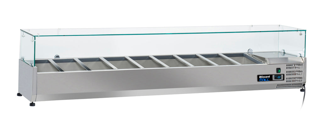 Blizzard Preparation Unit With Glass Display - 2000mm,Tabletop Salad Preparation,Blizzard
