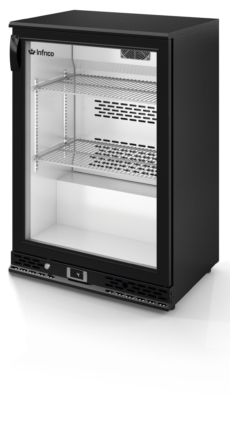 Infrico Under Counter Bottle Cooler - Charcoal With x1 Black Door,Bottle Cooler,Infrico