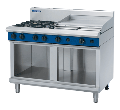 Blue Seal Evolution Series G518B-CB - 1200mm Gas Cooktop/Griddle - Cabinet Base,Cooktops - Gas,Blue Seal