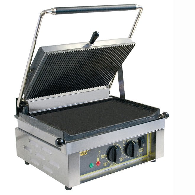 Roller Grill Pannini L Electric Contact Grill, Cast Iron 430W x 385D x 220H (mm) 3kW,Contact Grills,Roller Grill