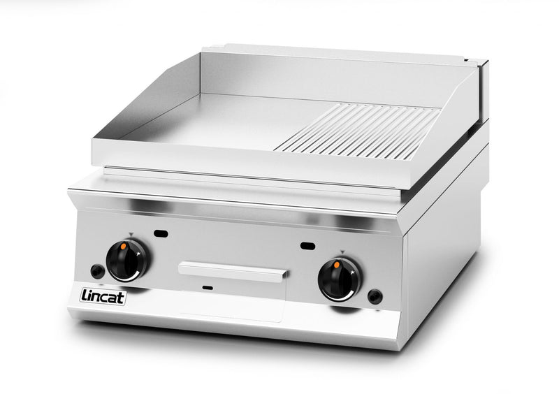 Lincat OG8201/R/N Gas Griddle Half Ribbed Plate - Dual Zone,Griddles - Gas,Lincat